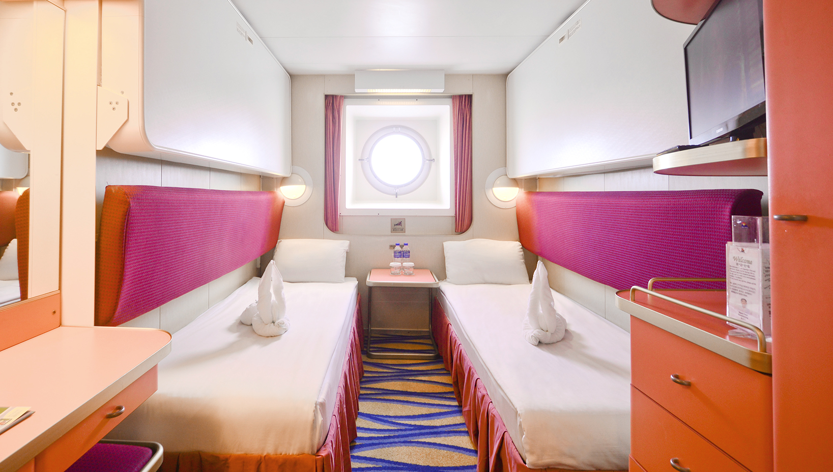 Ocean view stateroom with porthole