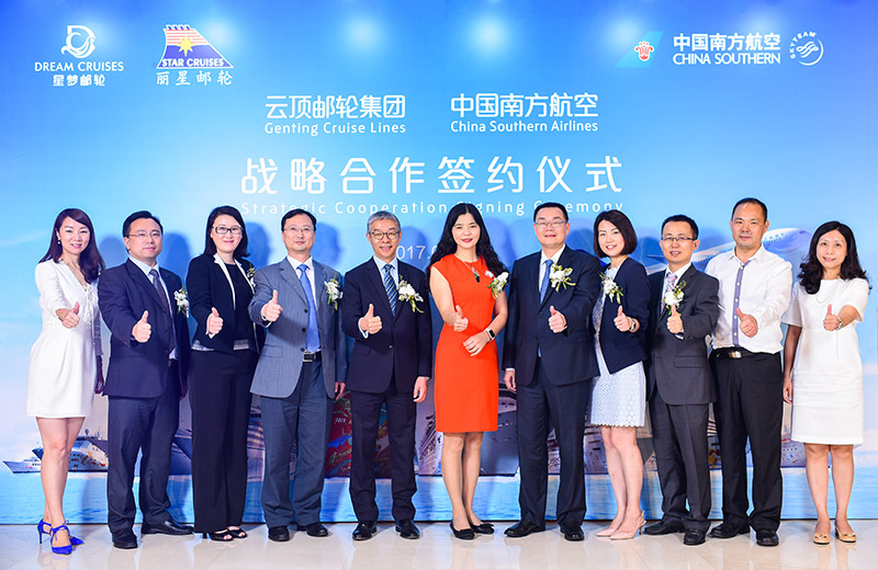 Genting Cruise Lines And China Southern Airlines Sign Strategic Fly Cruise Partnership Press